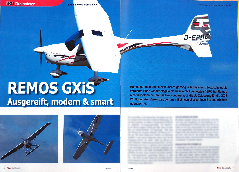 Artikel Fluegel Magazin REMOS GXiS 2017
